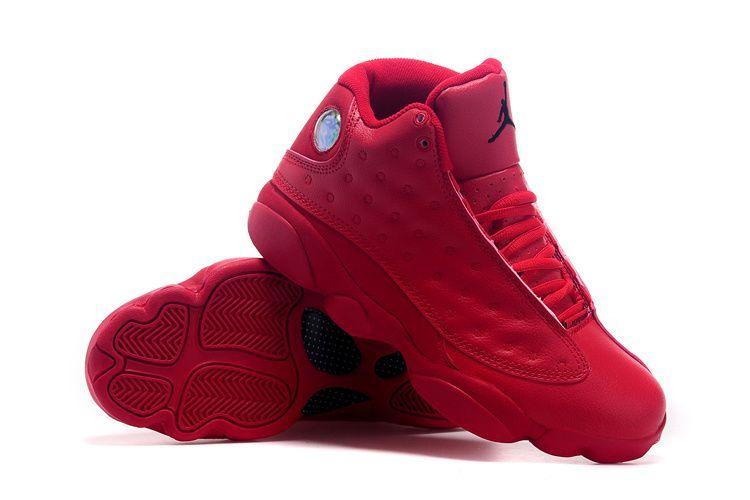 2015 Original Air Jordan 13 Retro All Red Shoes - Click Image to ...