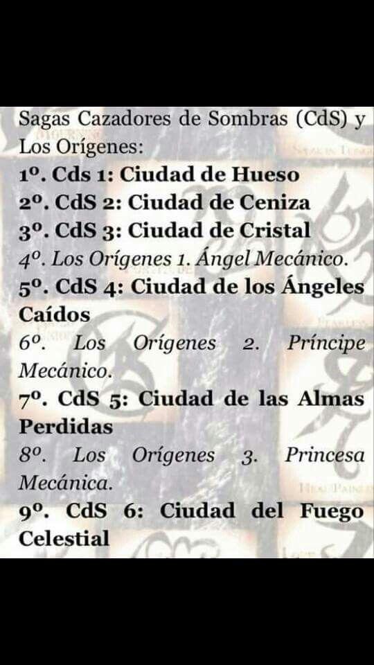 Orden De Cazadores De Sombras Books Movies And Tv Books Love
