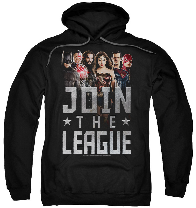 Justice League Movie The League Pull Over Hoodie