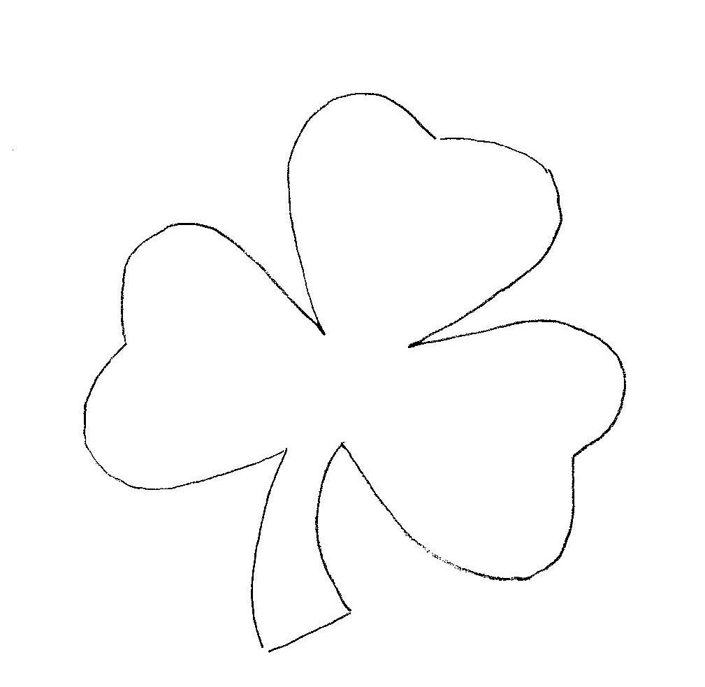 Shamrock Coloring Pages | St. Patrick Day | Pinterest