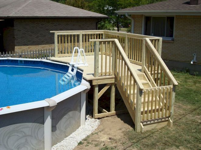 Top 08 Diy Above Ground Pool Ideas On A Budget Pool Steps Above Ground Pool Landscaping Small Backyard Pools