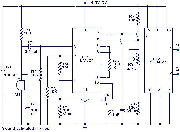 Fine Sound Activated Flip Flop Circuit Diagram Electrical Electronics Wiring Digital Resources Dylitashwinbiharinl