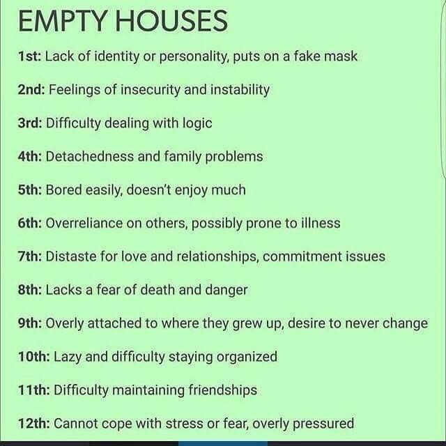 Empty houses in your birth chart and what they mean lipstick alley