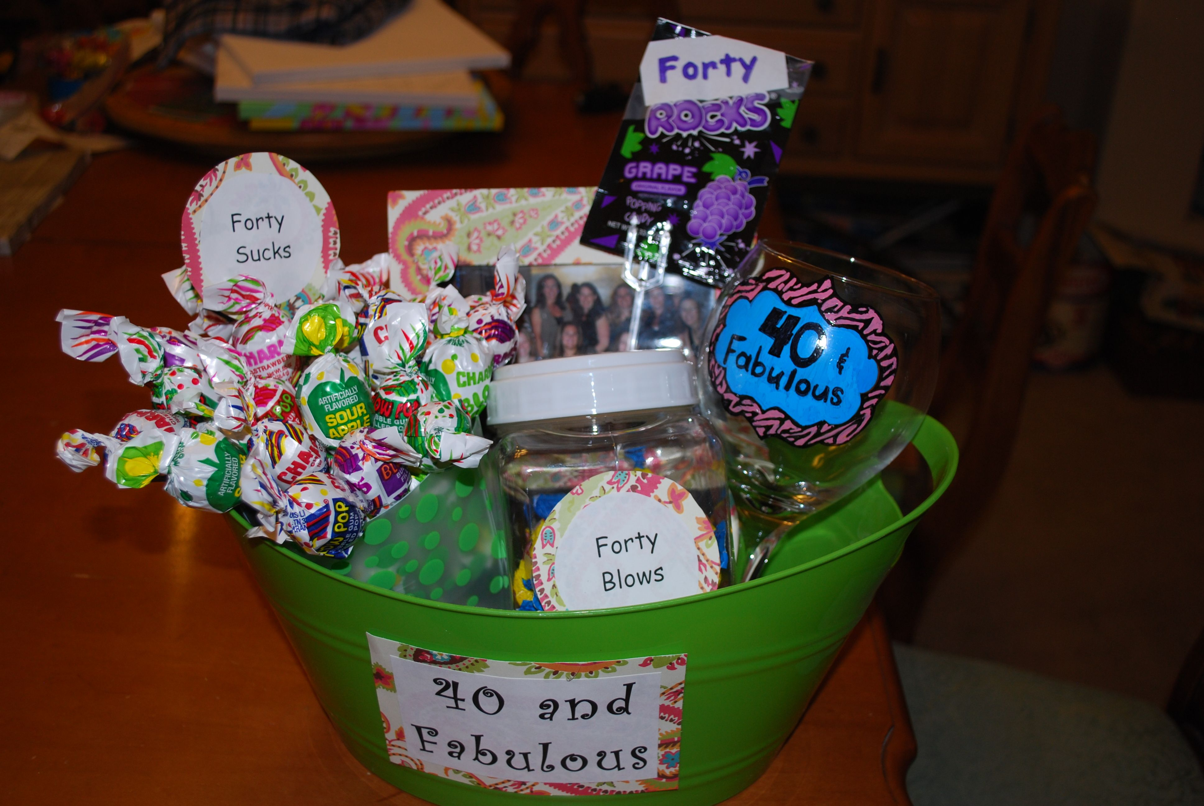 40th Birthday Gift Basket Ideas For Her Things I Made
