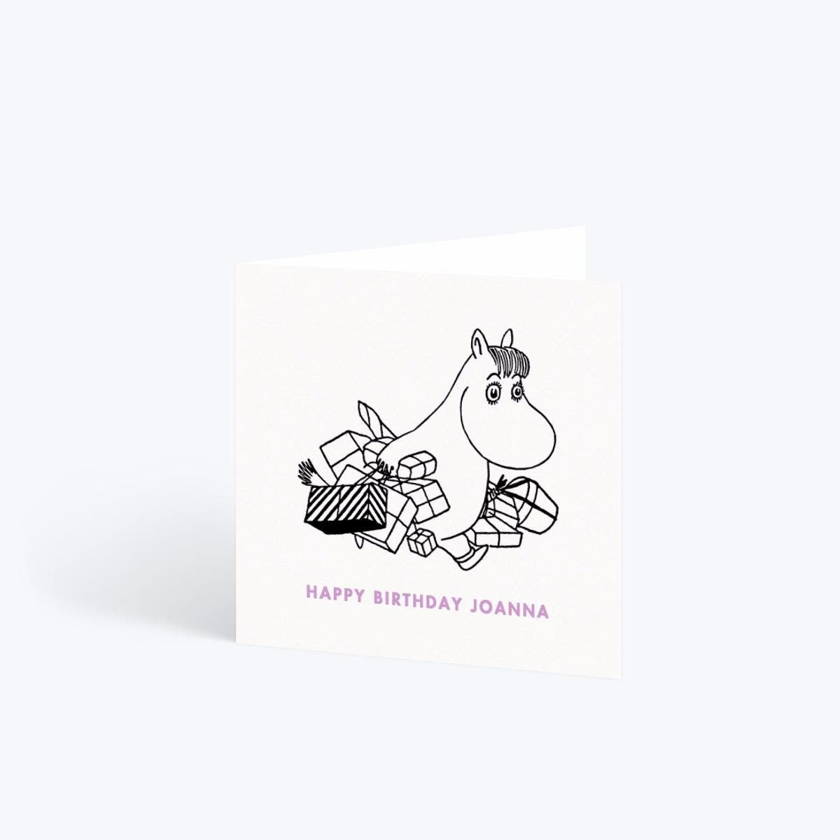 Birthday Card Snorkmaiden With Presents Birthday Cards Birthday Card Design Cards