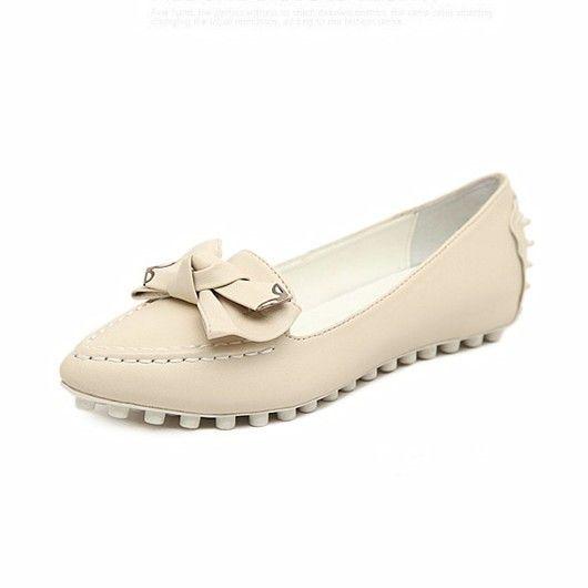 Women's Bowtie Loafer Flat Shoes 041810
