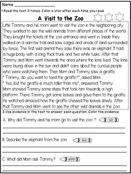 2nd Grade Reading Comprehension Passages And Questions Matthew