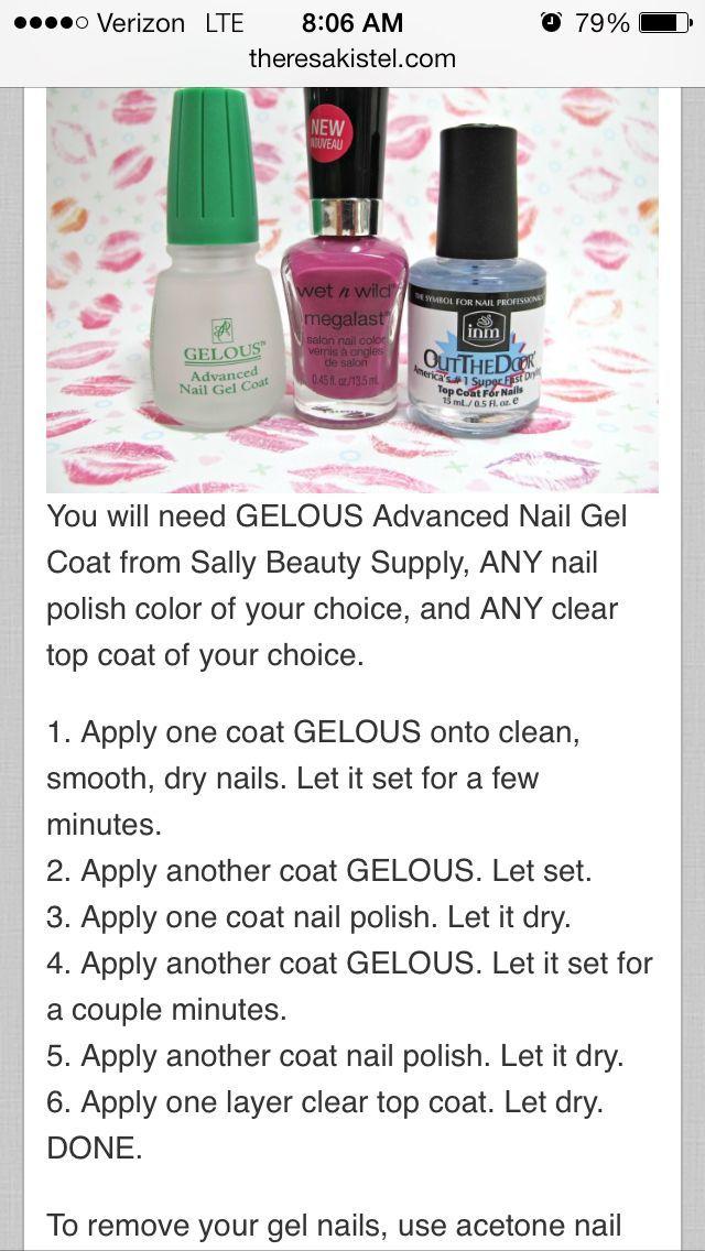 Gel nails at home!! Doing them like this later!! Nail Design, Nail ...