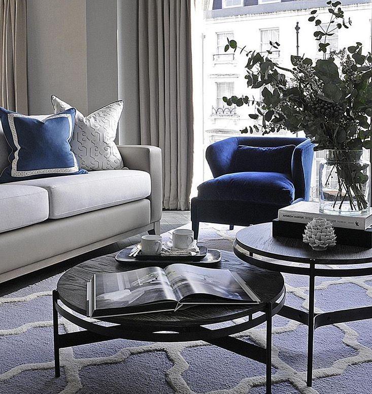 Luxury Fine Home Interior: Navy & White Colour Scheme In A Classic Design Style