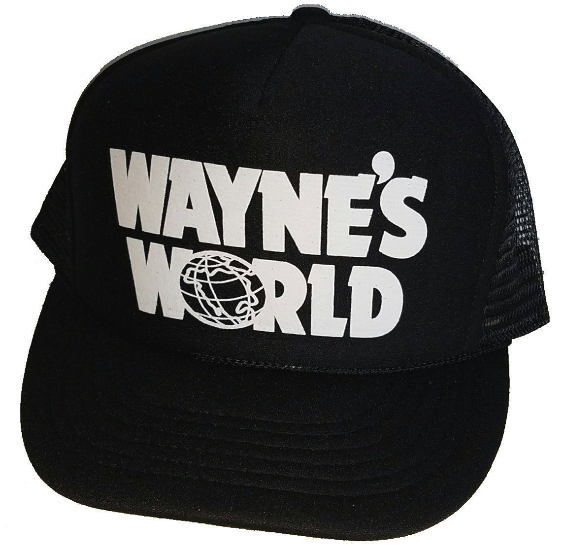 35864950d0845 Wayne s World Halloween Costume Snapback Mesh Trucker Hat Cap  ebay  Fashion