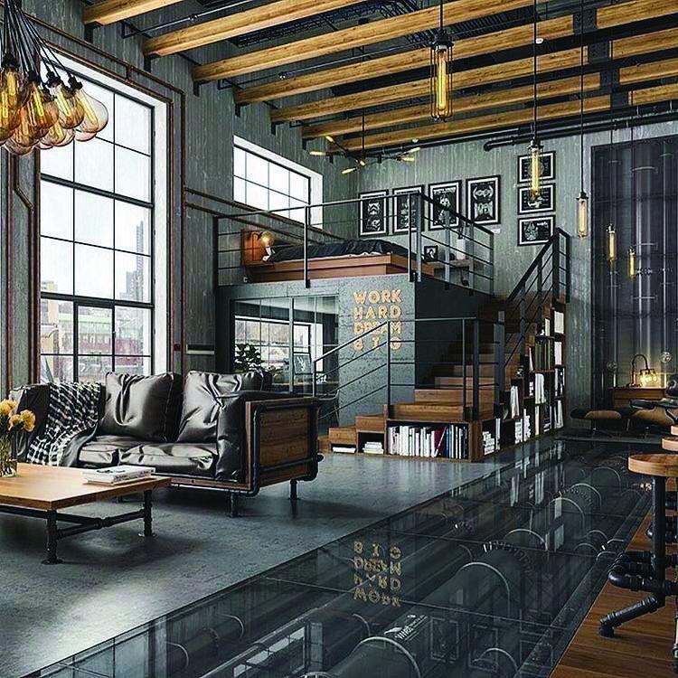 15 Luxury Living Room Designs Stunning Homes Tre Loft Inspiration Industrial Home Design Industrial Interior Design