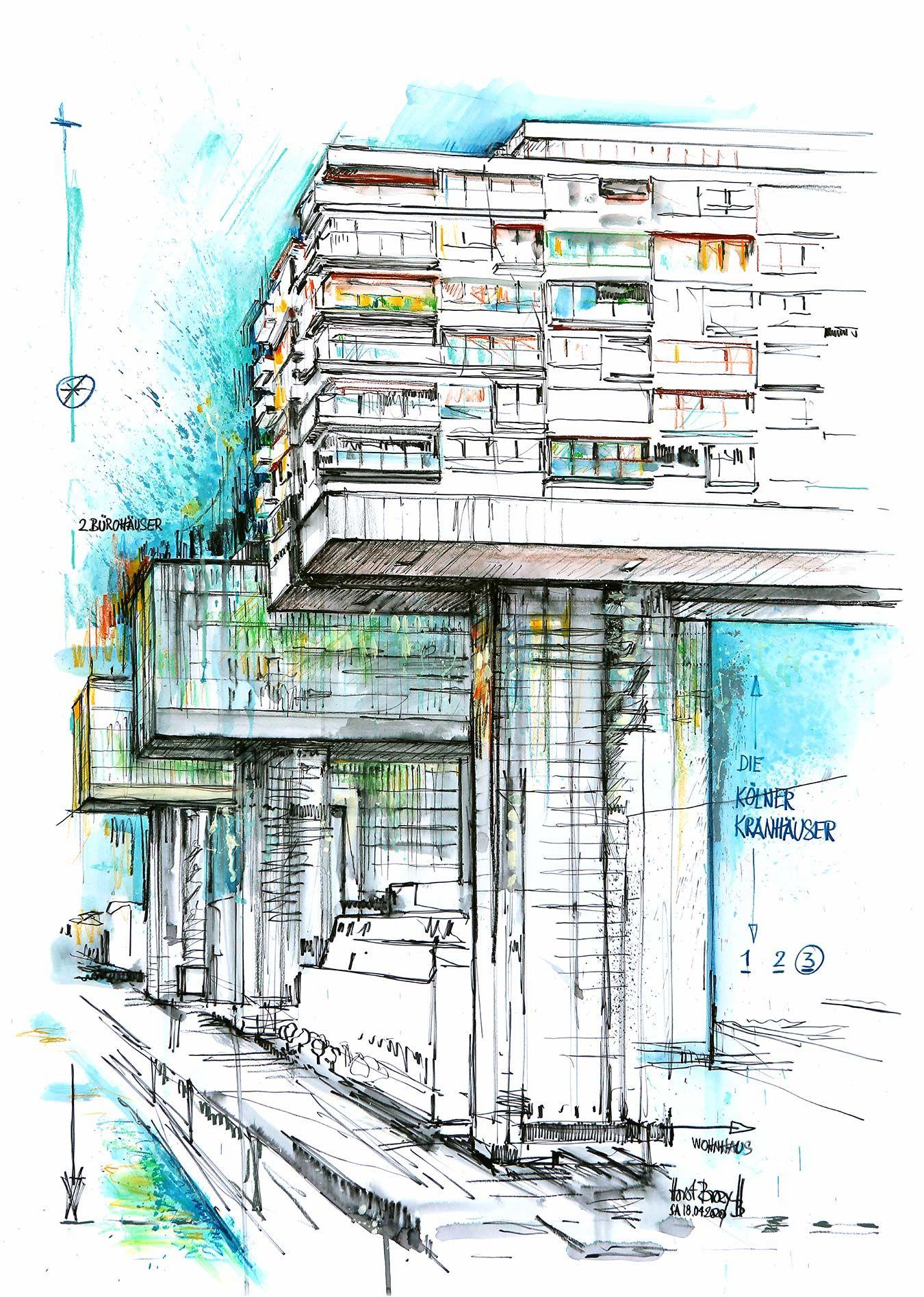 Kolner Kranhauser 2 2020 100x70cm Kranhaus Kran Haus