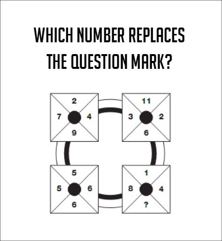 Answer-9 All numbers in each box add up to 22. 2+4+7+9=22