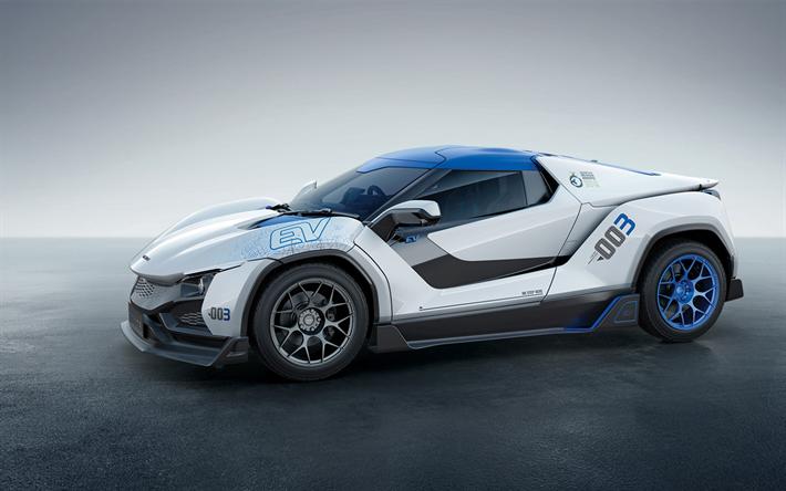Download wallpapers Tata TaMo Racemo, 2018, racing car
