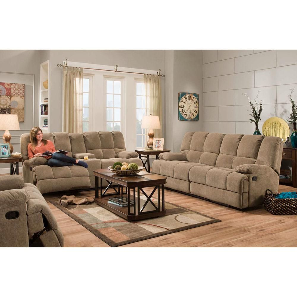 Penn 2Piece Cocoa Brown Sofa And Loveseat Living Room Set Enchanting Brown Sofas In Living Rooms Design Decoration