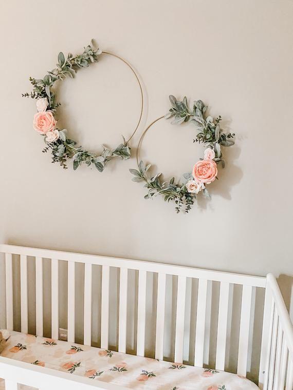 Gallery Floral Hoop Wreath Nursery Decor Wedding Bridal Shower Baby Shower Minimalist is free HD wallpaper.