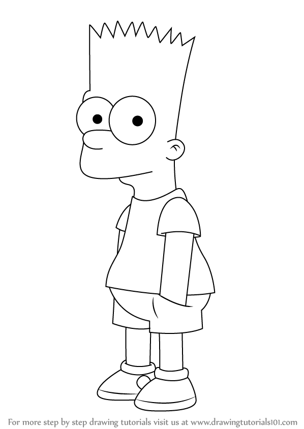 Bart Simpson Is A Male Character From American Animated Cartoon