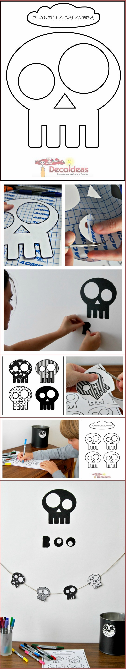 Decorating Ideas > FREE Printable Skull Template For DIY Halloween Decoration  ~ 214210_Halloween Decoration Ideas Templates