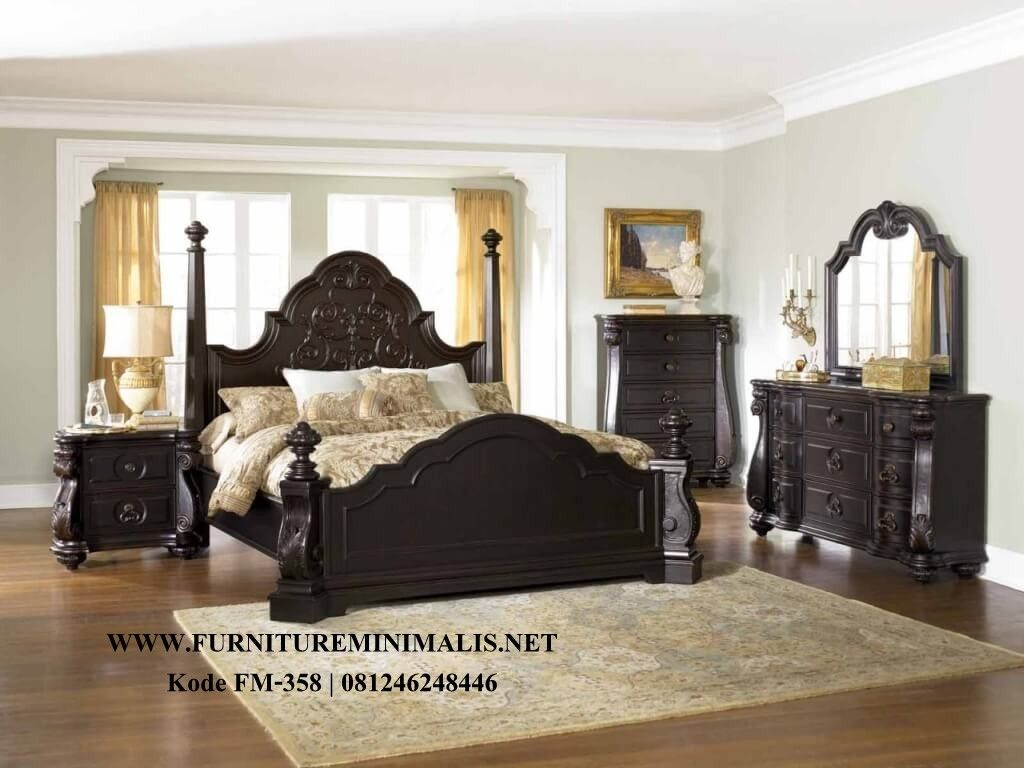 Tempat Tidur Minimalis Canopi Kayu Jati Terbaru