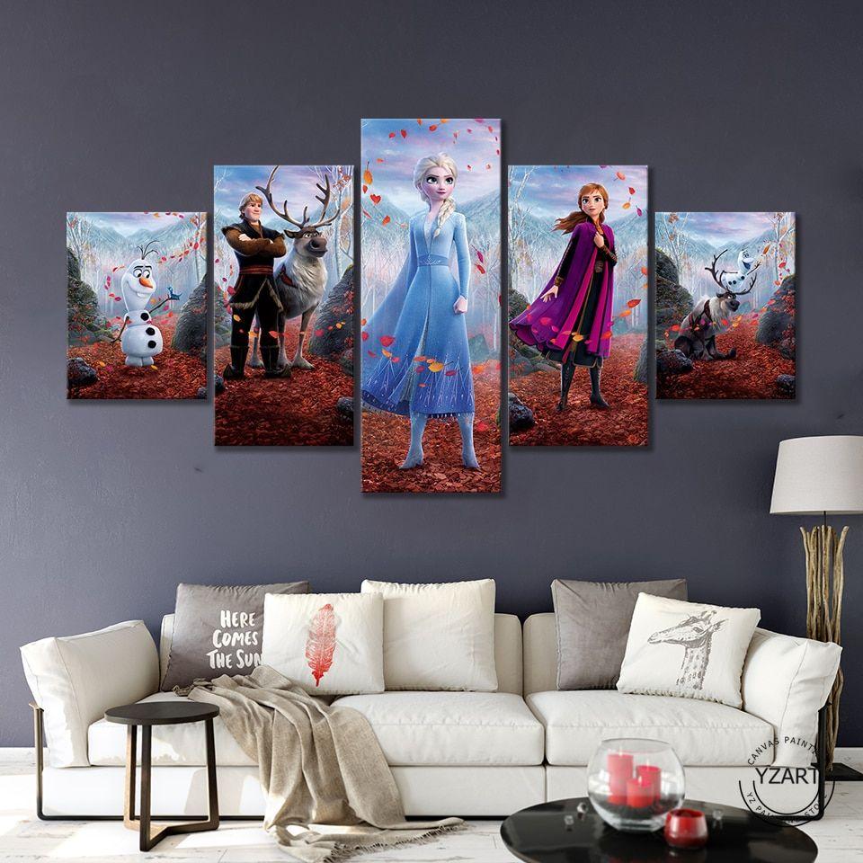 Frozen Ii Cartoon Hd Movie Canvas Art Walling Shop Wall Art Canvas Painting Canvas Art Wall Decor Disney Wall Art