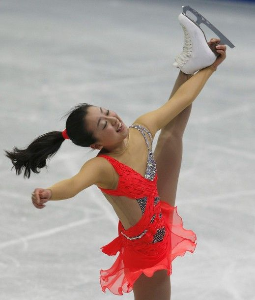 Mao Asada of Japan performs during the women short program event at the ISU Four Continents Figure Skating Championships in Osaka, western J...