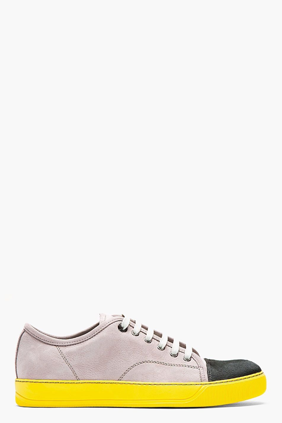 Lanvin Grey Leather Calfhair Tennis Sneakers for men Find this Pin and