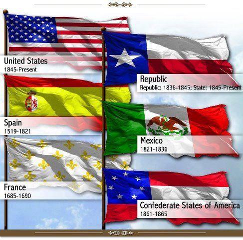 6 Flags Over Texas Six Flags Over Texas Republic Of Texas Texas History