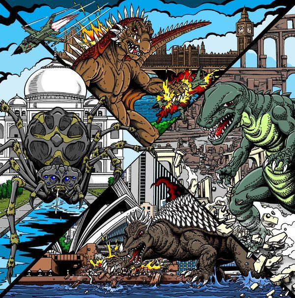 Destroy All Monsters 2 By ~kaijuverse