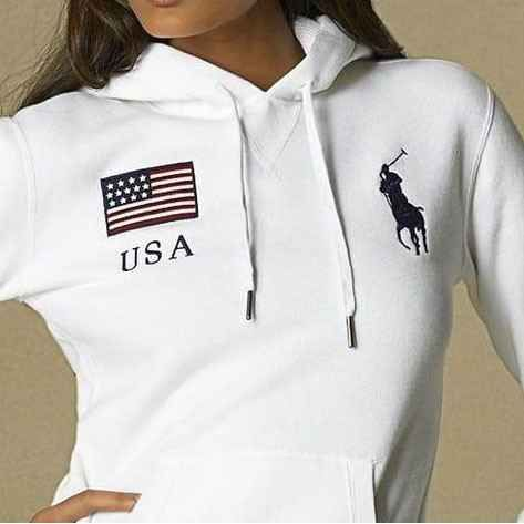 polo ralph lauren womens flag hoodie usa want. Black Bedroom Furniture Sets. Home Design Ideas