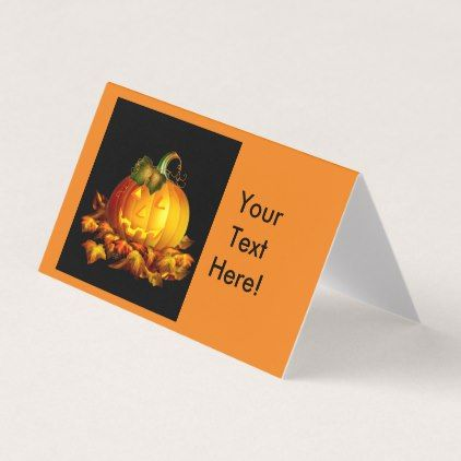 #Halloween Jack-o-Lantern Place Card - #Halloween happy halloween #festival #party #holiday