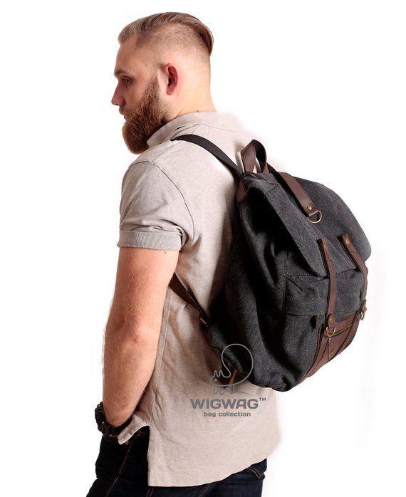 5f3aa025f5 Mens canvas backpack