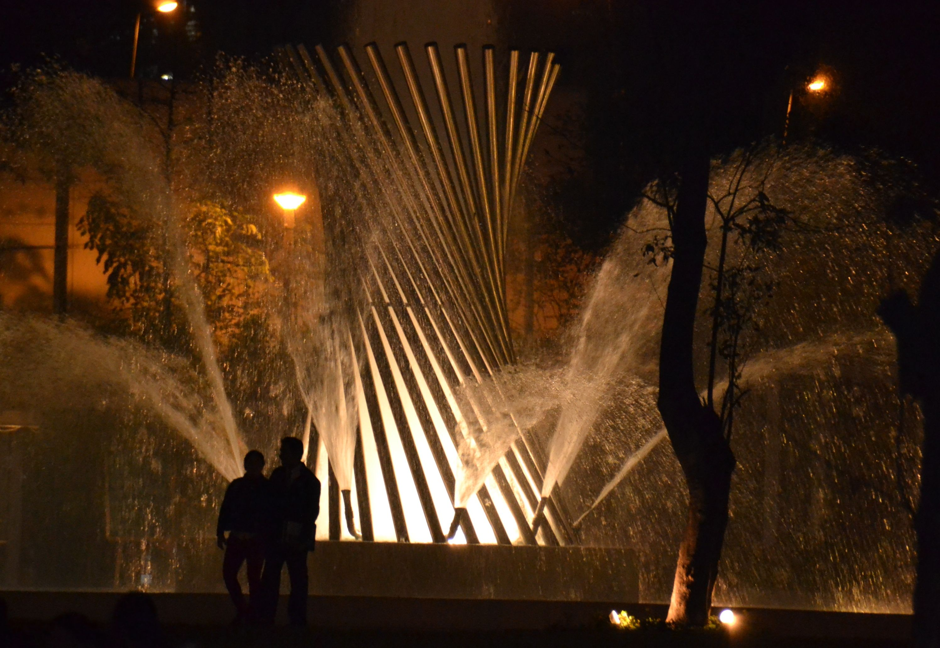 Another fountain display in the Magic Circuit of Water in Lima, Peru