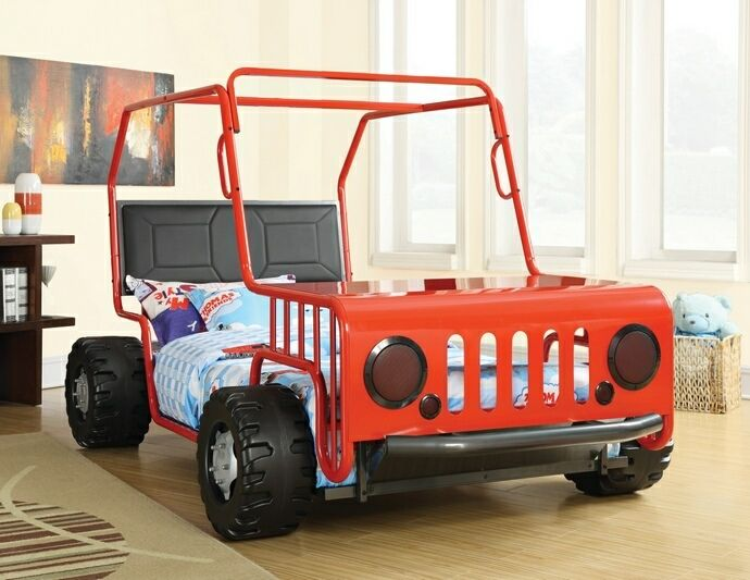 Red Off Road Racer Jeep Collection Red And Black Finish Children S