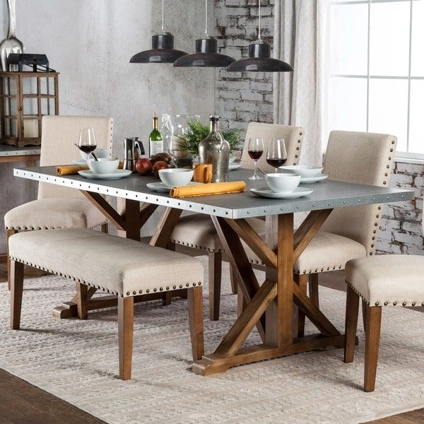 Furniture Of America Aralla Industrial Style Dining Table  For Magnificent Industrial Style Dining Room Tables Inspiration