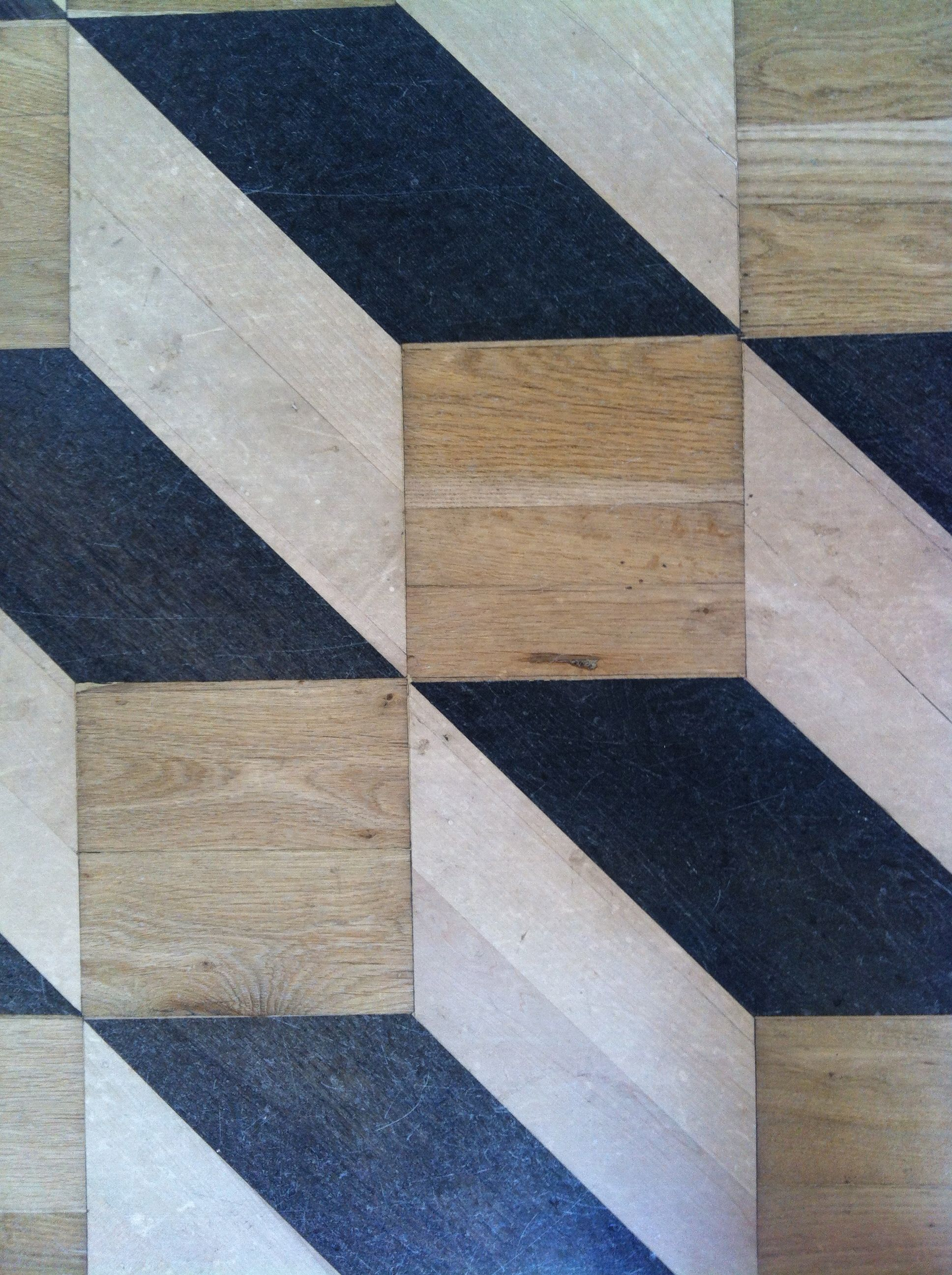 3D design plays with the eyes. - The parquet floor of Catherine ...