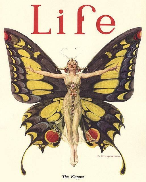 Life Magazine cover, 1922, titled 'The Flapper'. So stylish and clever