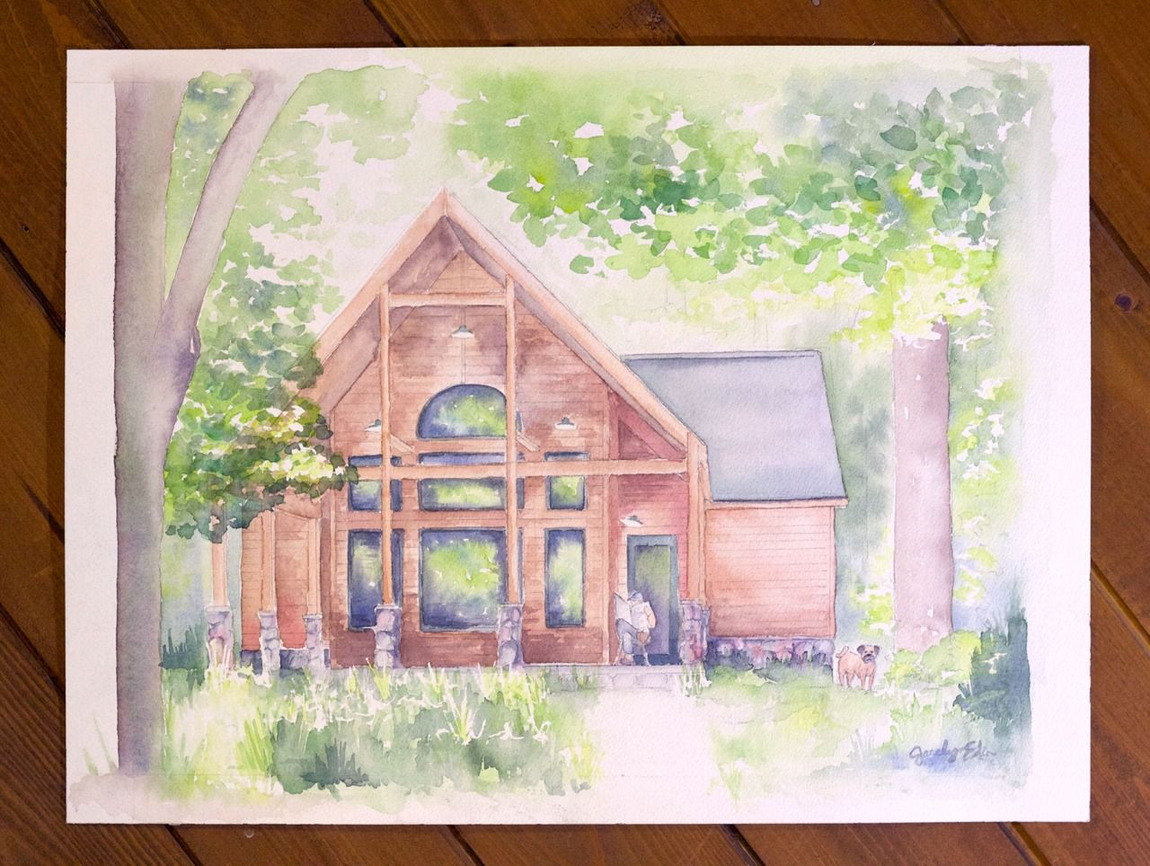 Up North, family cabin commission #watercolor #painting by Jocelyn ...