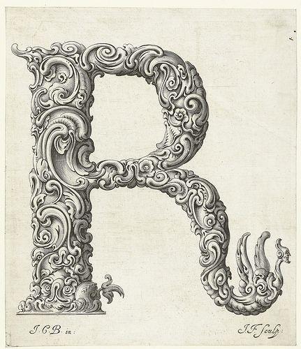 An Alphabet of Organic Type (ca 1650) | Craftiness