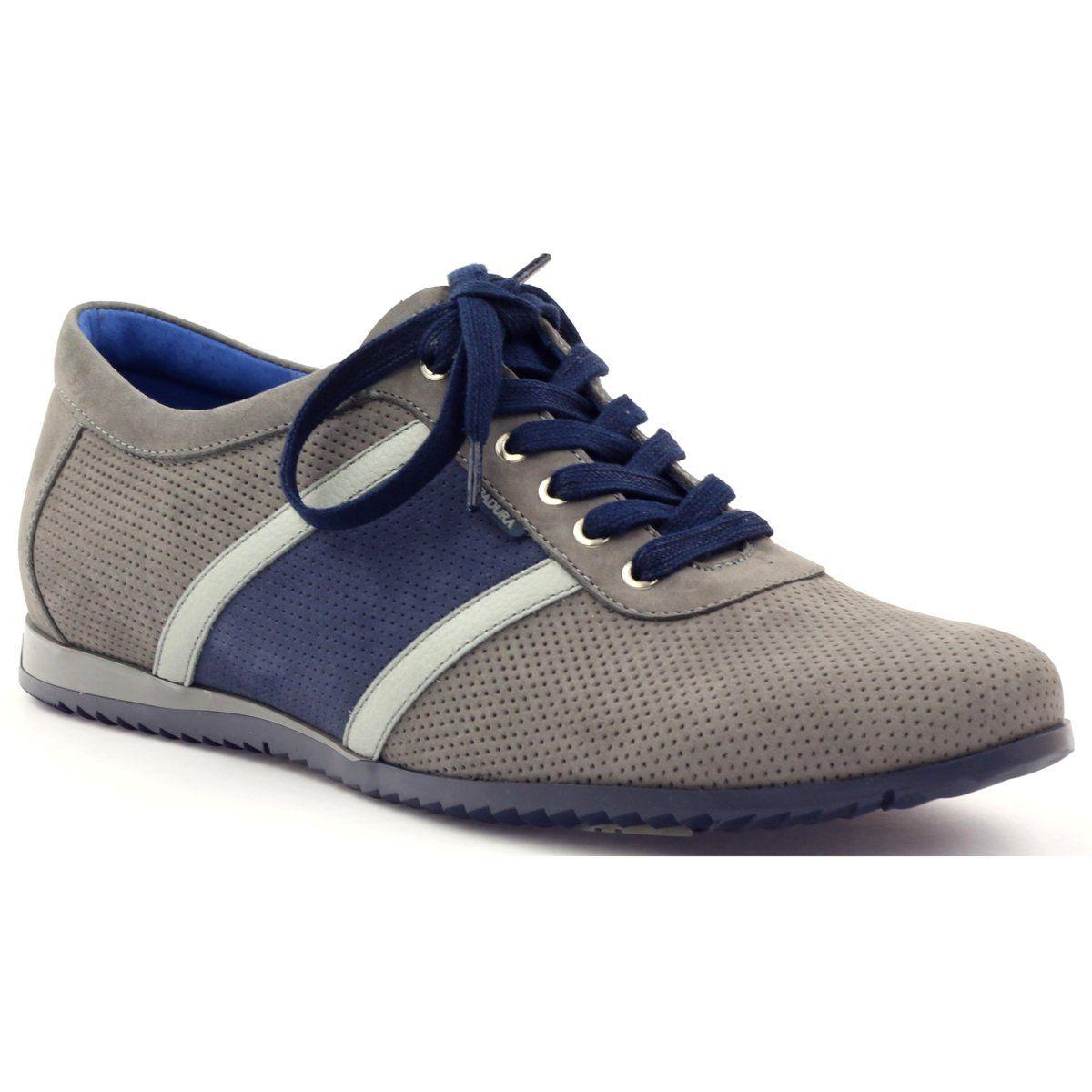 Polbuty Szare Sportowe Badura 3360 Granatowe Shoes Sneakers Fashion