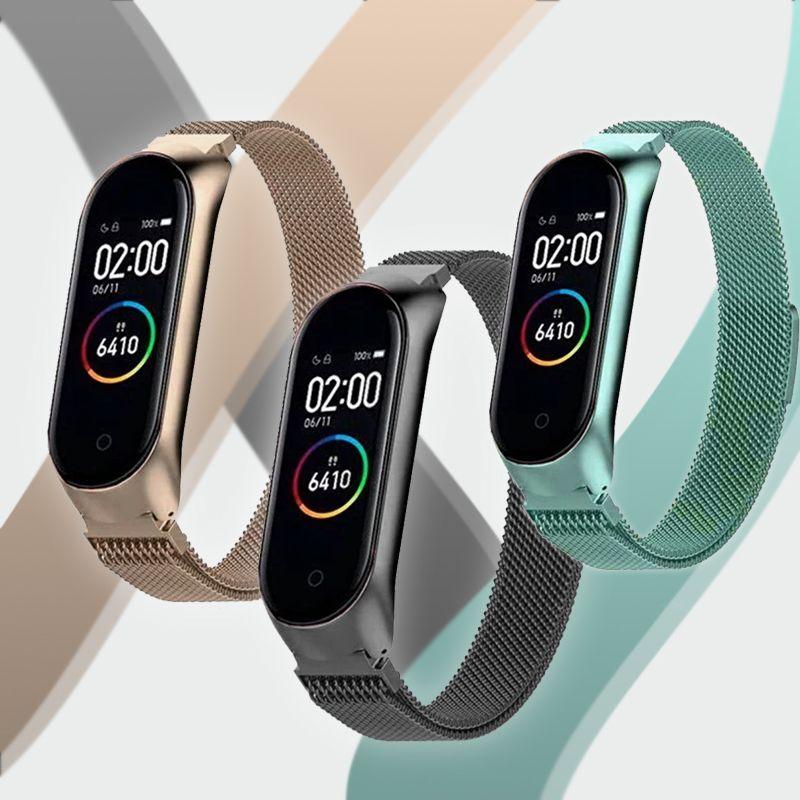 Correas Metálicas Xiaomi Mi Band 3 Y 4 Relogio De Pulso Digital Relógios Pulseira Relógio Feminino
