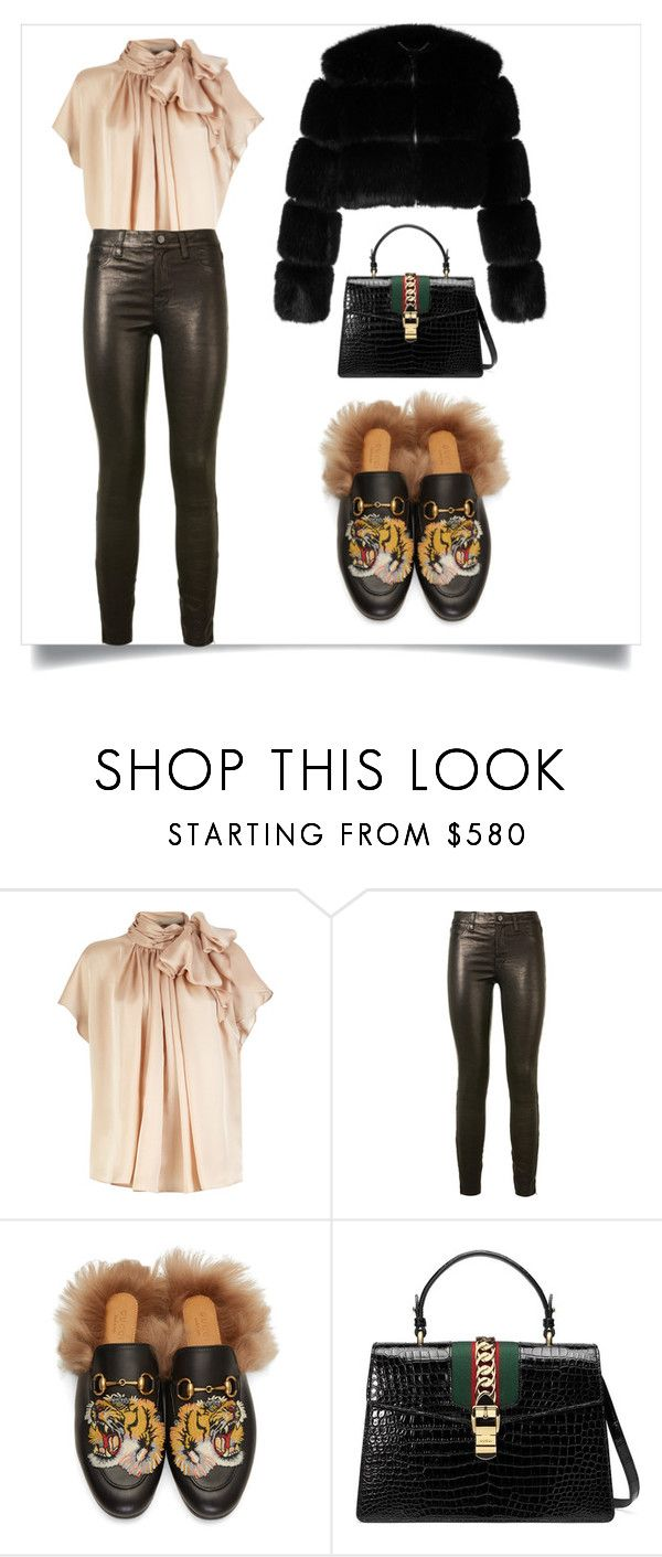 """Untitled #119"" by haifastylist ❤ liked on Polyvore featuring J Brand, Gucci and Givenchy"