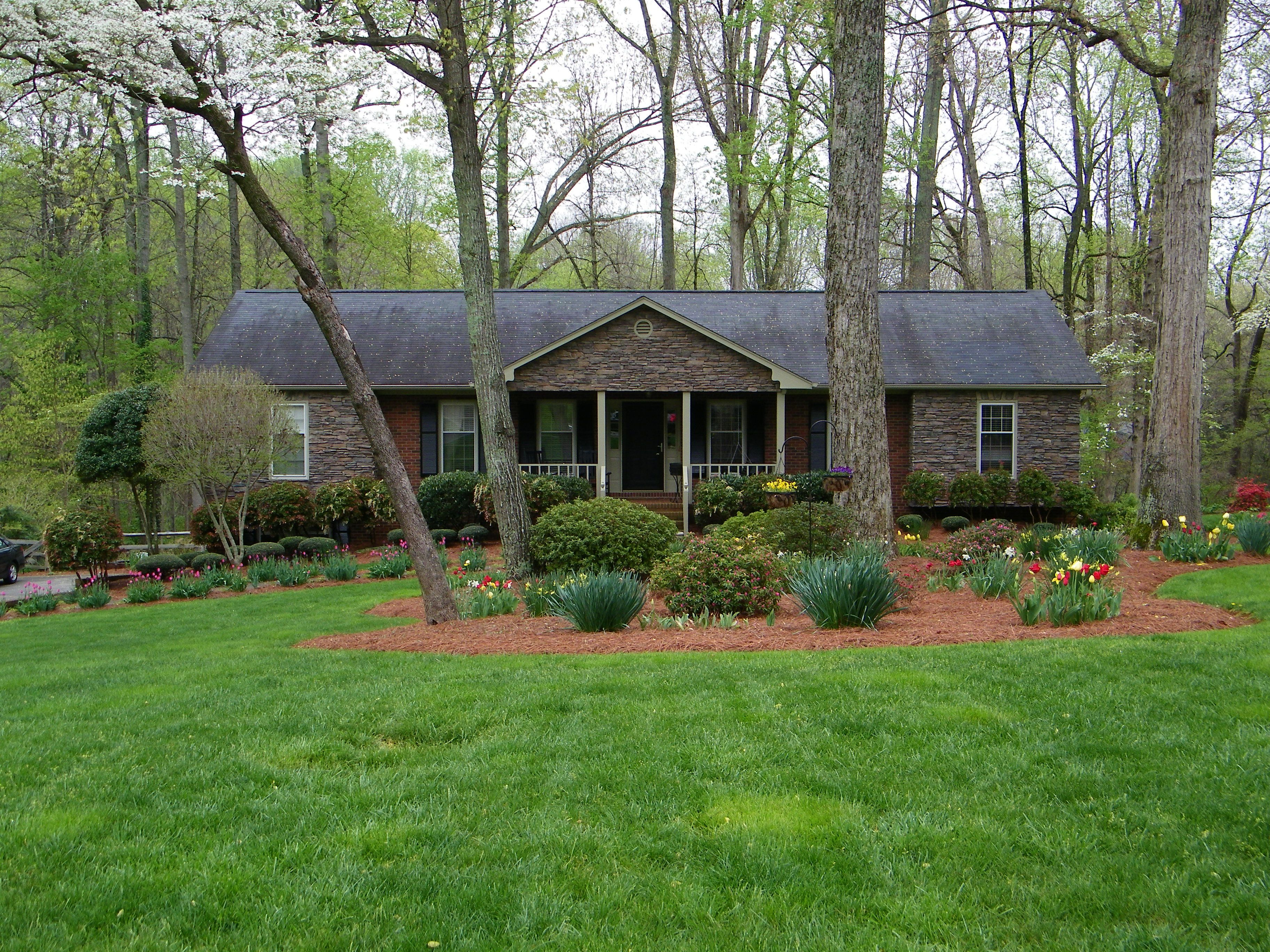 curb appeal simple ranch house