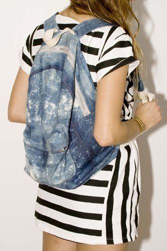 Как сшить сумку или рюкзак из джинсовt