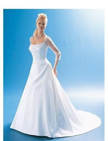 A-Line/Princess Square Chapel Train wedding dress for brides 2010 ...