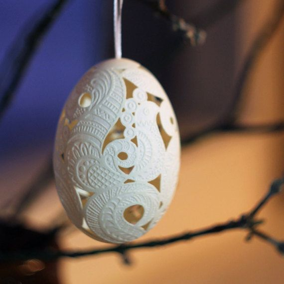 Carved goose egg art free shipping easter egg decor easter carved goose egg christmas tree decor unique christmas decorations wishing well christmas gift free shipping negle Gallery