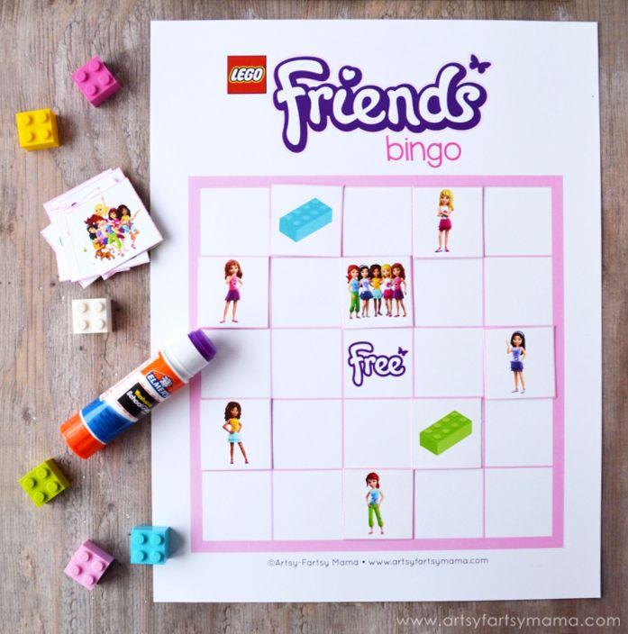Free Printable LEGO Friends Bingo Lego Friends Birthday Party