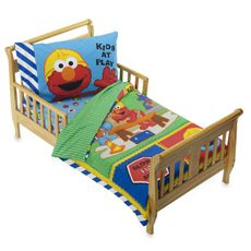 Magnificent Sesame Street Construction 4 Piece Toddler Bedding Set Bed Alphanode Cool Chair Designs And Ideas Alphanodeonline