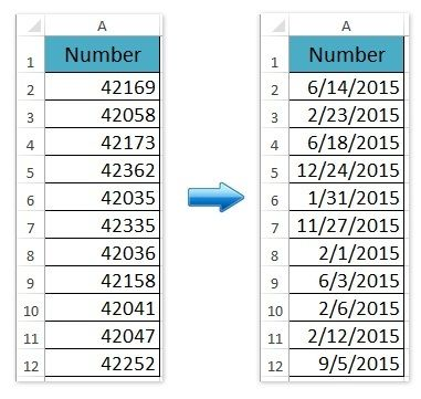 How to Change 5 Digit General Numbers to Date Format in Excel - microsoft payslip template