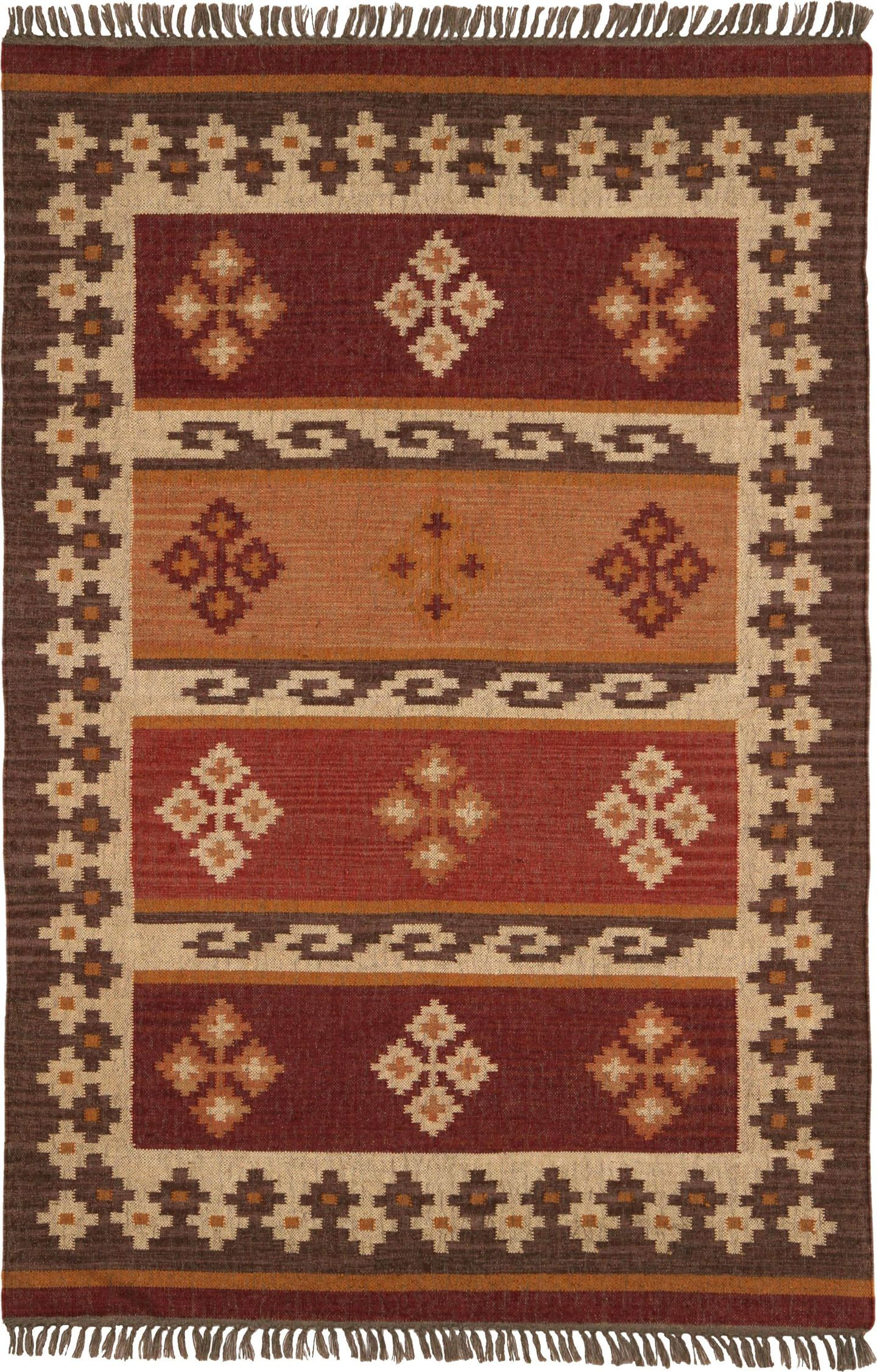 Hacienda Jewel Rug Color Burgundy Size 8 X 10 In 2020 Southwestern Area Rugs Area Rugs Colorful Rugs