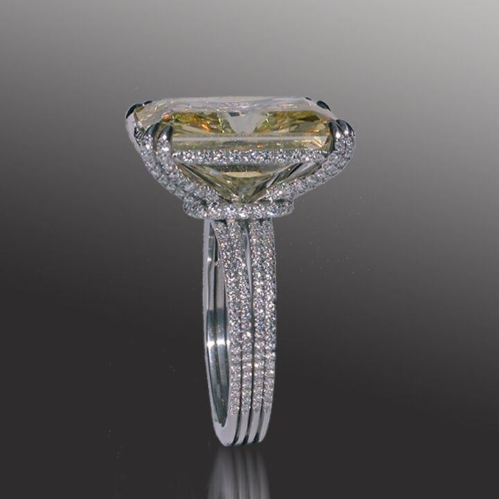Mark Patterson award winning micro pave  engagement ring.